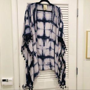 Anthropologie Tie Dye & Tassel Kimono